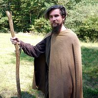 Half-Circle Brown Herringbone Cloak - Handmade Cloaks